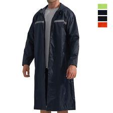 Mens Waterproof Reusable Raincoat Outdoor Active PVC Lightweight Poncho Rainwear