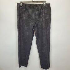 J JILL Black White Polka Dot Pull On Stretch Slim Leg Ponte Pants Sz XL