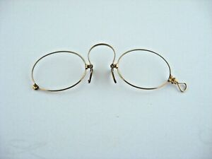Antique 1894 14kt Yellow Gold Glasses Magnifying Reading Opera