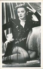 HEDY LAMARR Studio Starlet Original Vintage 1940s DBW Postcard / Photo