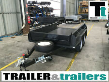 """Tandem full checker plate Heavy Duty NEW TYRES 15"""" High SideS 10x6  Box Trailer"""