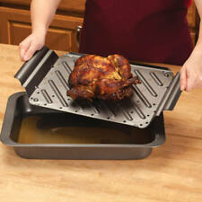 NEW Low Fat Roasting Pan with Rack 364671 FREESHIPPING