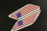 3D Metal Car Truck Fender Skirt Sticker Emblem Badge Decal USA American Flag