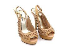 Bebe Women's Tan Leather Spike Stiletto High Heel Shoes Size 5