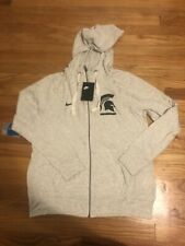 NWT Michigan State Spartans Women's Nike Oatmeal Zip Up Sweater Size Large $75