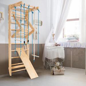 Sprossenwand Kletterwand Turnwand Klettergerüst Holz Turngeräte bis zu 100 kg