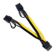 20cm 6-pin PCI Express to 2 x 6+2-pin (6-pin/8-pin) Y-Splitter Hub Power Cable