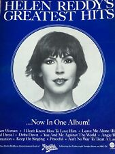 Helen Reddy Full Page Magazine Ad 1975 Record Release Helen Reddy Hits!