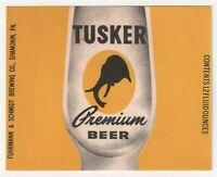 Shamokin Pa TUSKER PREM BEER PRISTINE UNUSED 12oz by FUHRMANN & SCHMIDT BREWING