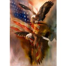 Full Drill 5D Diamond Painting American Eagle Cross Stitch Kits Embroidery New