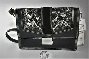 BNWT Zara Womens Black Leather Cowboy Crossbody Bag