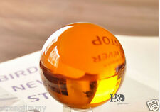 40mm+Stand Rare Magic Amber Crystal Healing Ball Sphere With Removable Base