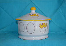 Vintage NORLEANS Eggs and Chicks white JAR w LID handmade in ITALY Easter Spring