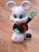 Vintage Ceramic Mouse Money Box. Made In China 18.5 Cm