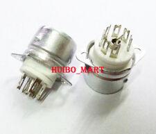 2Pcs 7Pin B7A Vacuum Tube Sockets with Shield For 6Z4 6J1 6J2 6J5 6X4