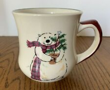 1 Pfaltzgraff Snow Bear Coffee Tea Mug Polar Bear Winter Holiday Christmas 14 oz