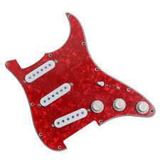 Electric Guitar Loaded Pickguard Scratch Plate for Stratocaster Parts Red Peal