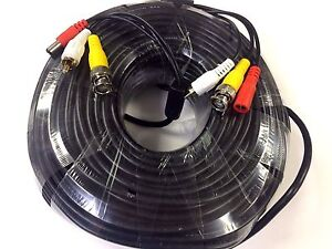 Ready Made Power Video And Audio Easy Connect Cctv Cable All In One 20m