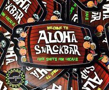 """Welcome To Aloha Snackbar� Morale Sticker"