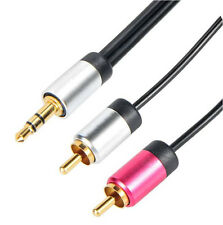 Quality 5m 3.5mm Jack to RCA Phono Cable / 24k Gold Plated Screened Pure OFC