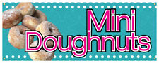 Mini Donuts Banner Donut Fried Dough Sign 36x96