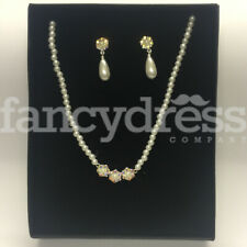 Jewellery Prom Wedding Christmas Gift Pearl & Diamante Necklace Earrings Costume