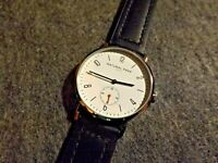 Men's Natural Park Quartz Seconds Subdial Watch w/ Genuine Leather Band