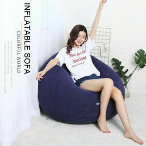 Wallaroo Lazy Air Lounge Chair Inflatable Sleeping Camping Bed Beach Sofa Bag F5