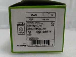 20 Amp 480-Volt 3-Phase Wetguard Locking Flush Mounting Single Outlet by Leviton