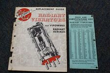 1946 Radiart Vibrator & Vipowers & Aerials Replacement Guide /price list Radio