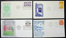 US Postage Set of 4 Illustrated Covers Letters Envelopes FDC USA Briefe (H-8332