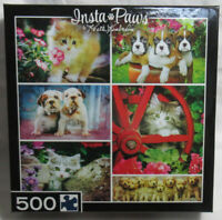 Master Pieces Jigsaw Puzzle 500 Piece INSTA PAWS KEITH KIMBERLIN puppies kittens