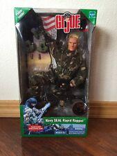 "Gi Joe 12"" Navy Seal Rapid Rappel Blonde Hair 2003 Hasbro Poster Inside New"