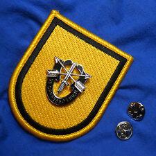 ELITE SPECIAL FORCES GROUP BERET FLASH: 1st SFG + DE OPPRESSO LIBER Crest PIN