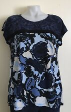 Sleeveless Blouse size L  Dana Buchman Navy Blue  NWOT