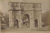 Italia Roma L Arco Da Constantin Foto Vintage Albumina Ca 1880