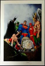 MICHAEL TURNER IDENTITY CRISIS WIZARD MAG ART PRINT Signed by PETER STEIGERWALD