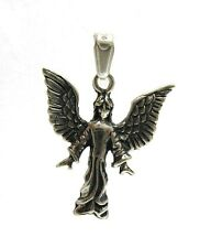 STERLING SILVER PENDANT SOLID 925 ANGEL WINGS EMPRESS PE000877
