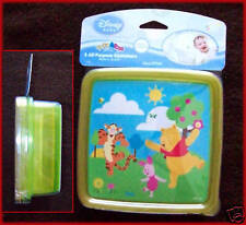 DISNEY Winnie Pooh  2 x LUNCH SANDWICH / Snack BOX Plastic Containers - 4m+  NEW
