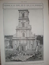 New Bell Fortress St Peter & St Paul St Petersburg 1905