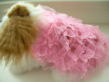 SM Beautiful Pink Dog Dress 100% Hand Made Clothing Clothes