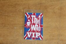 The Who  -  Laminated Backstage Pass - Lot # 11 - FREE SHIPPING -