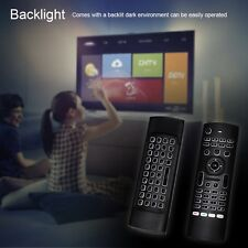 Backlit Air Mouse Rii MX3-Pro Mini Keyboard IR Remote Control for Smart TV PC