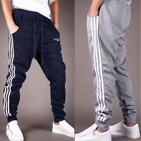 Men Casual Sports Slim Cuff Harem Taper Sweats Gym Track Pants Trousers Slacks