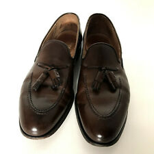 Crockett&Jones Cavendish burnished calf leather loafers dark brown,mokasyny 44,5