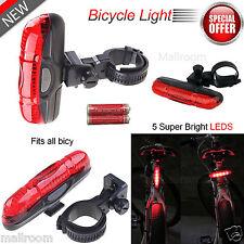 Wasserdicht 5 LED Fahrrad Rück Licht Leuchte Standlichfunktion Lampe Beleuchtung