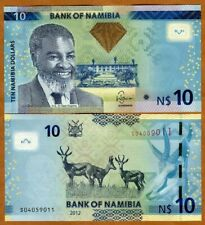 Namibia, 10 dollars, 2012, P-11a, UNC > Antelopes, OVI in the center
