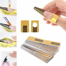 50 Nail Art Guide Form Acrylic Sticke Decoration Tool UV Gel Tips Extension
