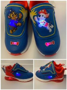 Nickelodeon Paw Patrol Boys Shoes Light Up Boys Sneaker - Blue/Red - Toddler NEW