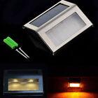 LED Solar Power Waterproof Outdoor Light Garden Yard Path Way Stairs Wall Lamp